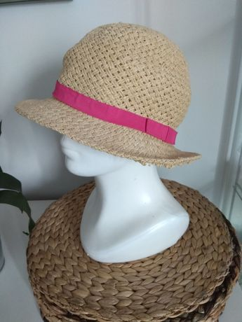 Kapelusz słomkowy damski na lato wakacje plażę s.Oliver M 56 cm