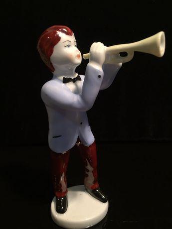 Фарфоровая статуэтка « Музыкант» Старая Германия