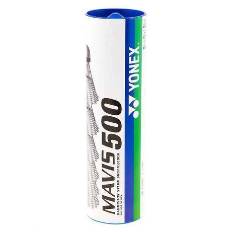 Воланы для бадбинтона Mavis Yonex 500 белые нейлон 6шт MY500