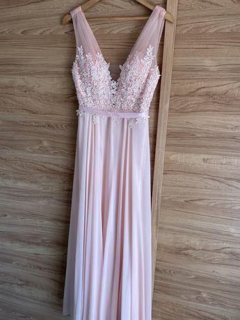 Vestido rosa cerimónia