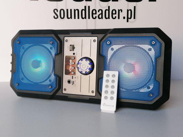 Głośnik bluetooth TWS z radiem i odtwarzaczem mp3 plus pilot