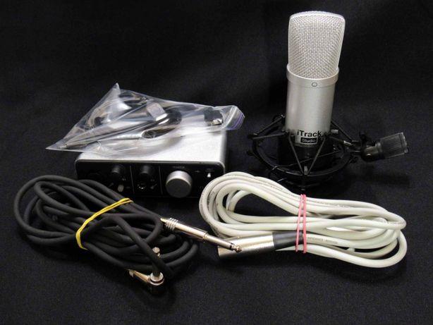 Комплект! Аудио интерфейс Focusrite iTrack Solo Studio Pack микрофон