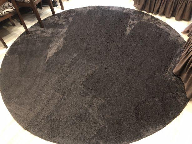 Ковер ,палас круглый темно коричневый