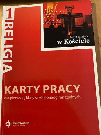 """Karty pracy wydawnictwo św. Wojciecha: """"Moje miejsce w Kościele"""""""