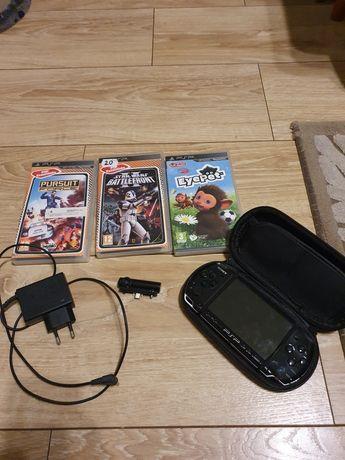 Sony psp z kamerą i ładowarką + 3 gry