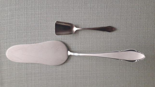 WMF łyżeczka do cukru łopatka i widelczyki do ciasta posrebrzane