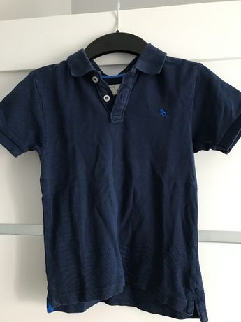 Granatowa koszulka polo H&M, 4-6 lat