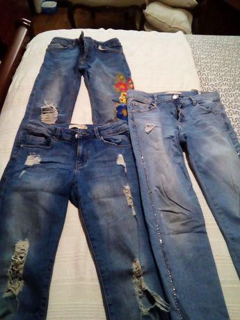 Várias calças