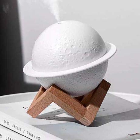 Ночник с увлажнителем воздуха на подставке с подсветкой Луна