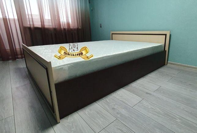 """Кровать """"Ким"""" с Матрасом! Акция! Светлый венге тамный венге."""