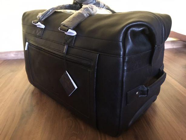 Nowa duża skórzana torba walizka podróżna Wittchen