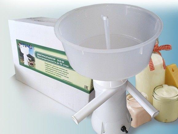 Wirówka elektryczna do mleka NOWA 50 l/h, METALOWY bąk