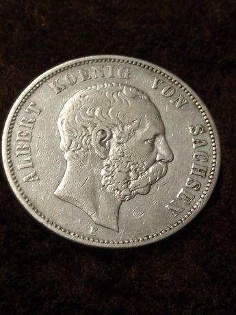 5 marek 1875 e Albert  Koenig von Sachsen