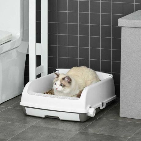 Caixa de Areia para Gatos 62x46,5x19,5cm Branco