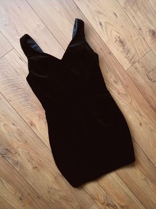 Sukienka welurowa bez wad czarna M Gdańsk - image 1