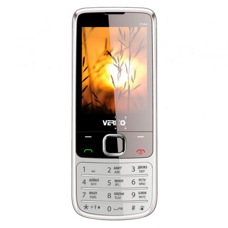 Мобильный кнопочный телефон Verico Style F244 Silver
