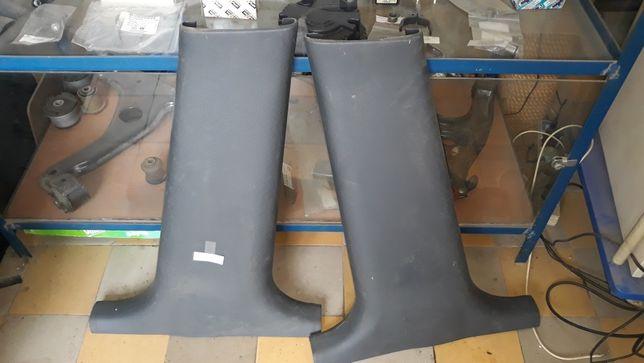 Пластик средней стойки, козырьки солнцезащитные, Daewoo Lanos, Ланос.