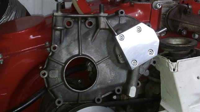 Pokrywa rozrządu z wyjściem na chłodnice oleju Fiat 126p kjs gsmp mt