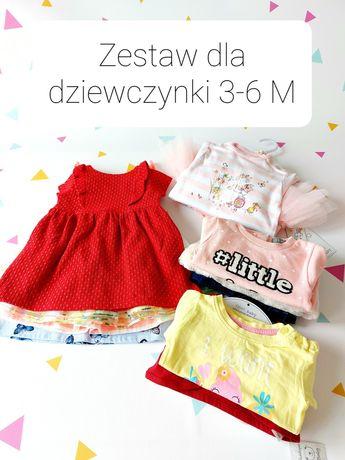 Zestaw paka nowe ubranka dla dziewczynki 3-6 M Next Primark F&F