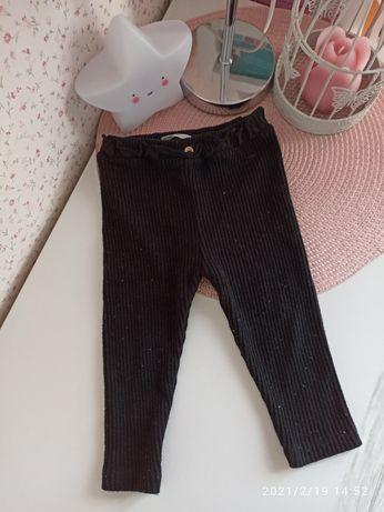Prążkowane dzianinowe legginsy Zara rozmiar 86