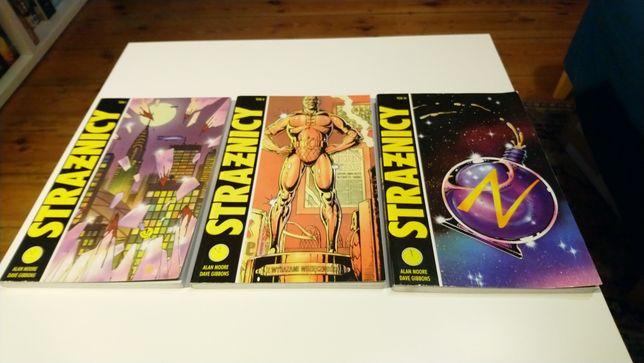 Strażnicy Alan Moore Dave Gibbons 3 tomy pierwsze wyd. PL Watchmen