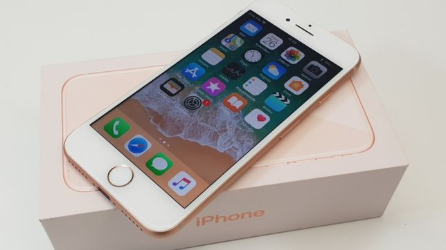 iPhone 8 64GB Gold • GWARANCJA 1 MSC • AppleCentrum • ZESTAW