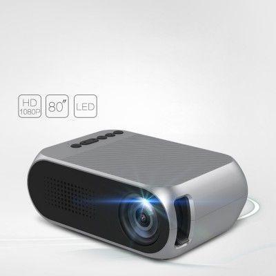 projector LED video fotos musica HD USB HDMI MicroSD pequeno compacto