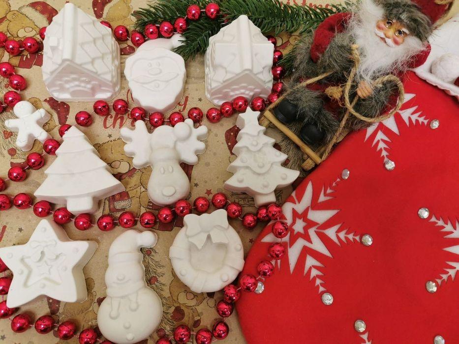 Набор гипсовых новогодних фигурок в подарочной коробке. Днепр - изображение 1