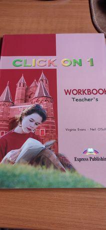Продам НОВУЮ книгу Click On 1 Workbook Teacher's