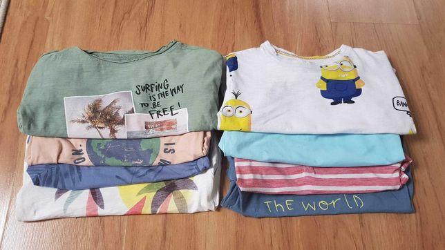 Koszulki bluzki dla chłopca 104 110