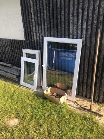 Okna drewniane bez futryn oddam za darmo