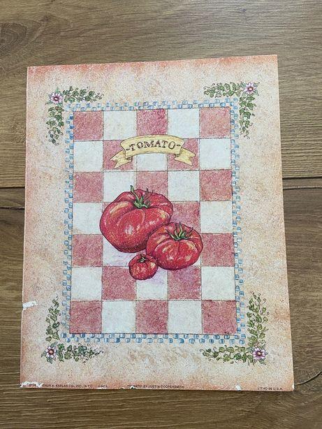Obraz Obrazek Plakat Szkic Grafika Gastronomia Kuchnia Pomidory