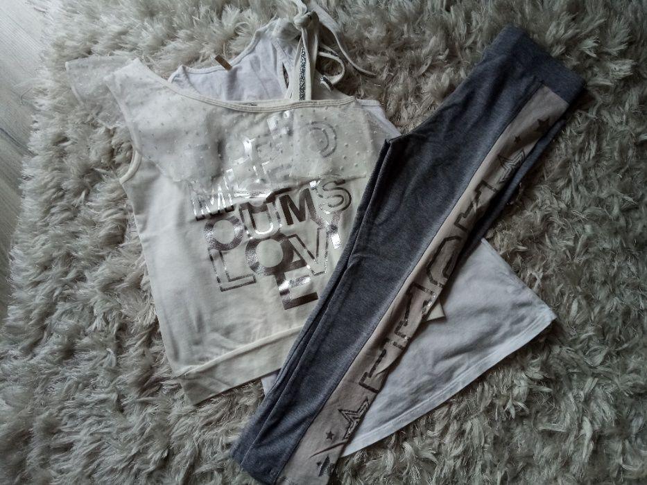 komplet bluzka i leginsy lato 146 Jordanów - image 1