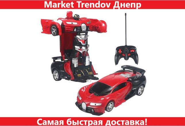 Машинка трансформер Bugatti Robot Car радиоуправляемая 2 в 1 красная