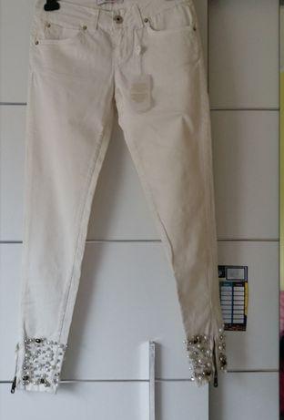 Nowe włoskie spodnie JustR S 36