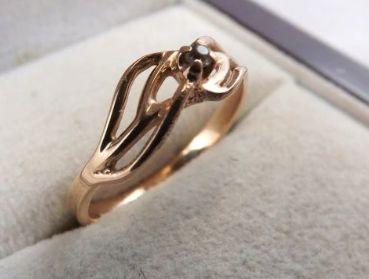 Przepiękny złoty pierścionek z cyrkonią 1,67G 585