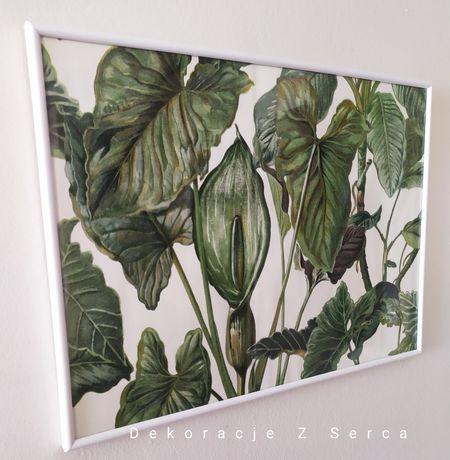 Rama, obraz z roślinami