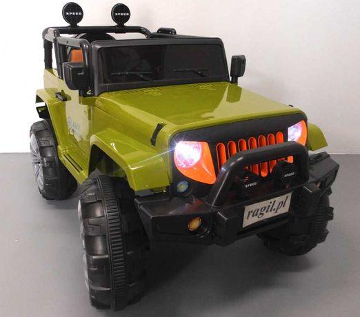DWUOSOBOWE Auto na akumulator jeep z napędem na 4 koła!+pilot+mp3+usb