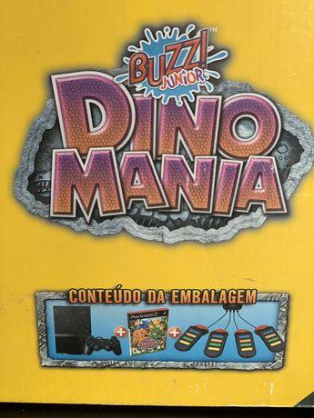 PS2 Consola Sony + Jogos Dino Mania + Comandos Buzz