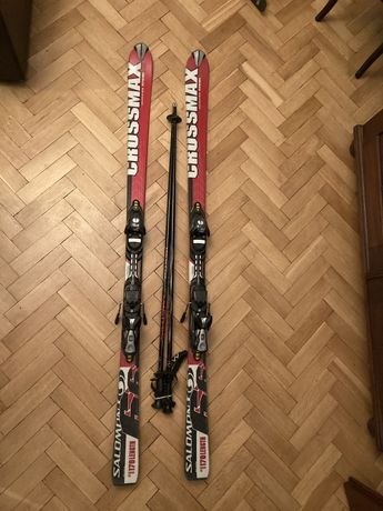 Używane narty Salomon Crossmax 66 (170 cm) + kije