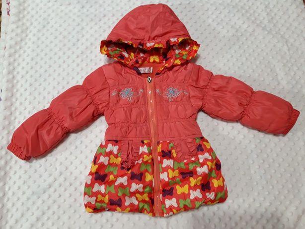 Курточка с цветочным принтом на флисе