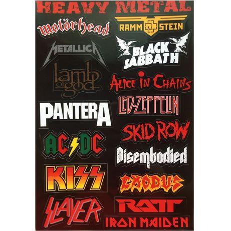 autocolantes bandas de heavy metal