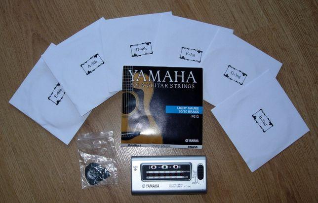 Tuner elektroniczny Yamaha YT 100 z zestawem strun