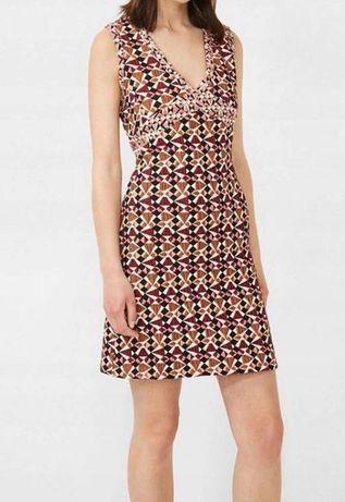 Desigual przepiękna oryginalna sukienka mini na jesien   36 s nowa!