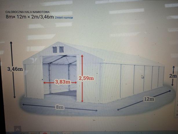 Nowy namiot ,hala namiotowa ,magazynowa 8x12 zamiana na wozek widlowy