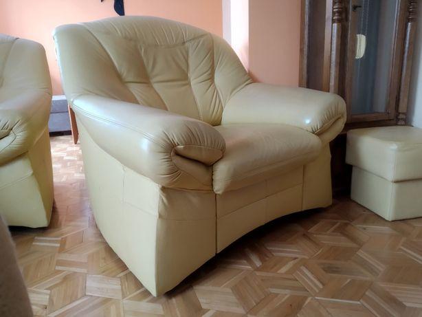 Fotel 1 sztuka, skóra naturalna