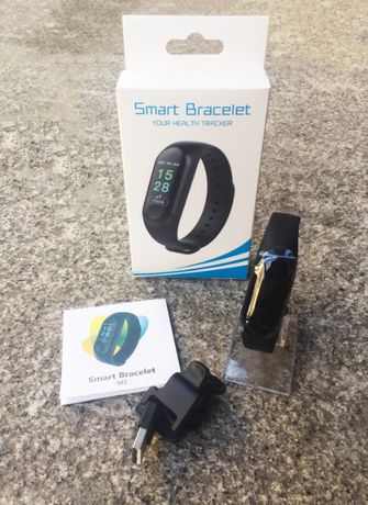 Smart Bracelet /Band Multi-funções (Monotorização cardíaca/etc)- NOVO