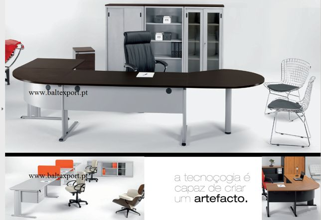 Secretária, Mesa de reunião, Mobiliário de escritório, Cadeiras Novas