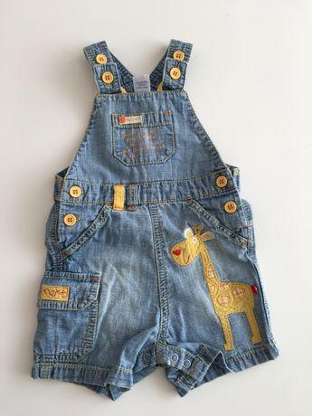 Комбинезон джинсовый шорты штаны джинсы летний на 3-6 месяцев Next