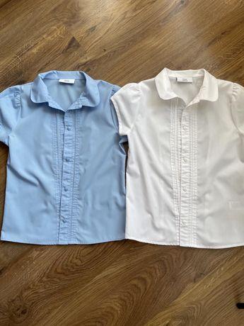 Блузки школьные рубашки next рост 140-146 + подарок